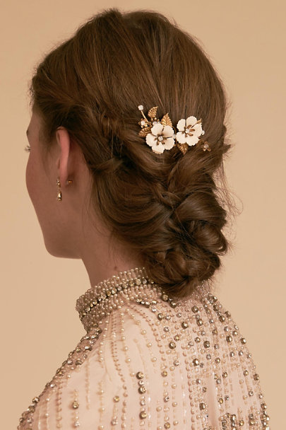 Paris by Debra Moreland Gold Anemone Comb | BHLDN