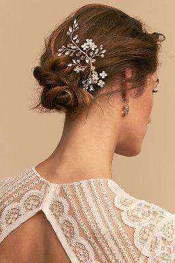 Bridal hair combs hair pins hair clips bhldn vivian hair comb junglespirit Gallery