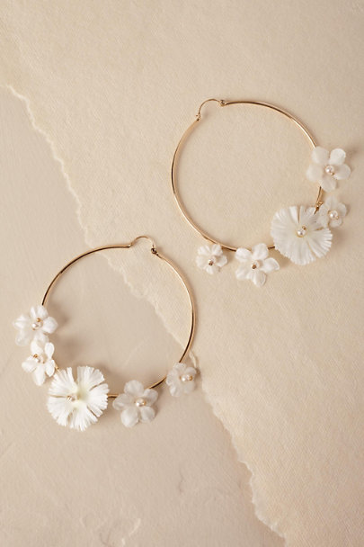 Anton Heunis Gold Blanca Hoop Earrings | BHLDN