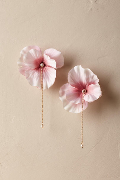 Anton Heunis Gold Blushing Cherry Blossom Earrings | BHLDN