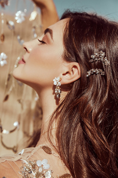 Anton Heunis Gold Orchid Waterfall Earrings | BHLDN