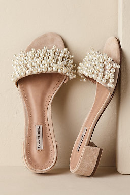 Flat wedding shoes bridal flats bhldn mira slides junglespirit Image collections