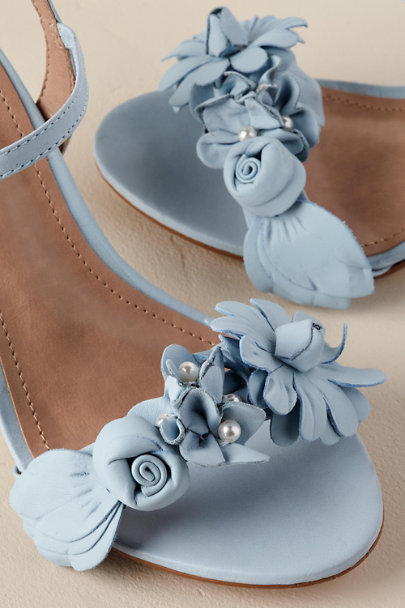 Raphaella Booz Sky Blue Bloomed Heels | BHLDN