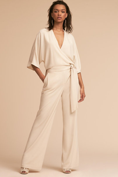 Halston Chalk Hadley Jumpsuit | BHLDN