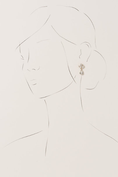 Ti Adoro Gold/Clear Virginia Drop Earrings | BHLDN