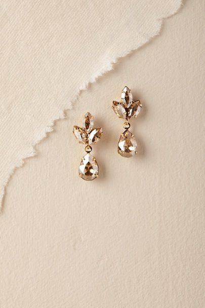 Ti Adoro Gold/Champagne Virginia Drop Earrings | BHLDN