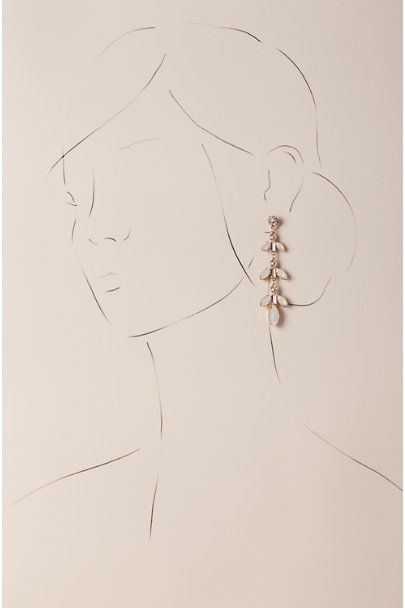 Paris by Debra Moreland Gold Greta Drop Earrings | BHLDN