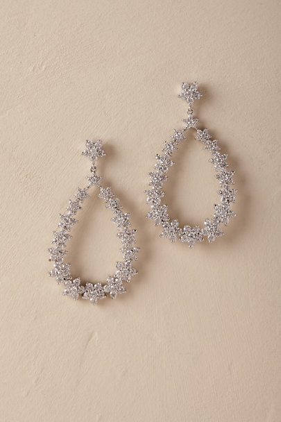 Jardin Silver Irene Hoop Earrings | BHLDN