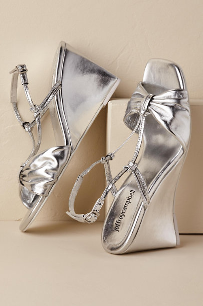 Jeffrey Campbell Silver Goodbye Wedge | BHLDN