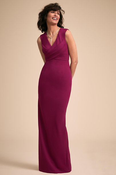 Adrianna Papell Plum Asher Dress | BHLDN