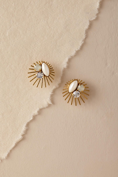 Hushed Commotion Gold Nimbus Stud Earrings | BHLDN