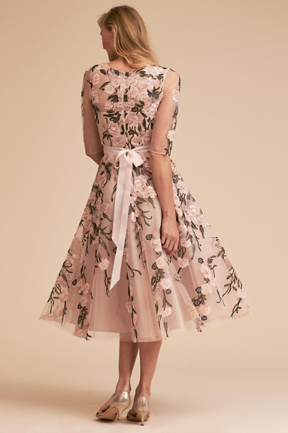 BHLDN Black/Pink Linden Dress | BHLDN