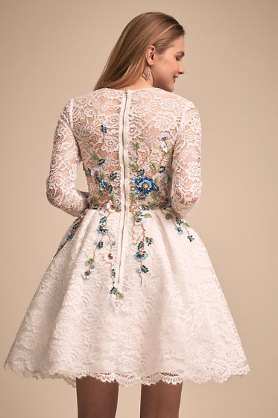 Mac Duggal Ivory Thistle Dress | BHLDN