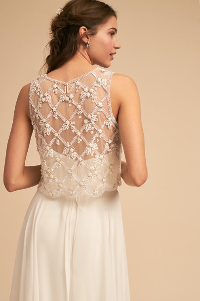 Moyna Ivory Holland Topper | BHLDN