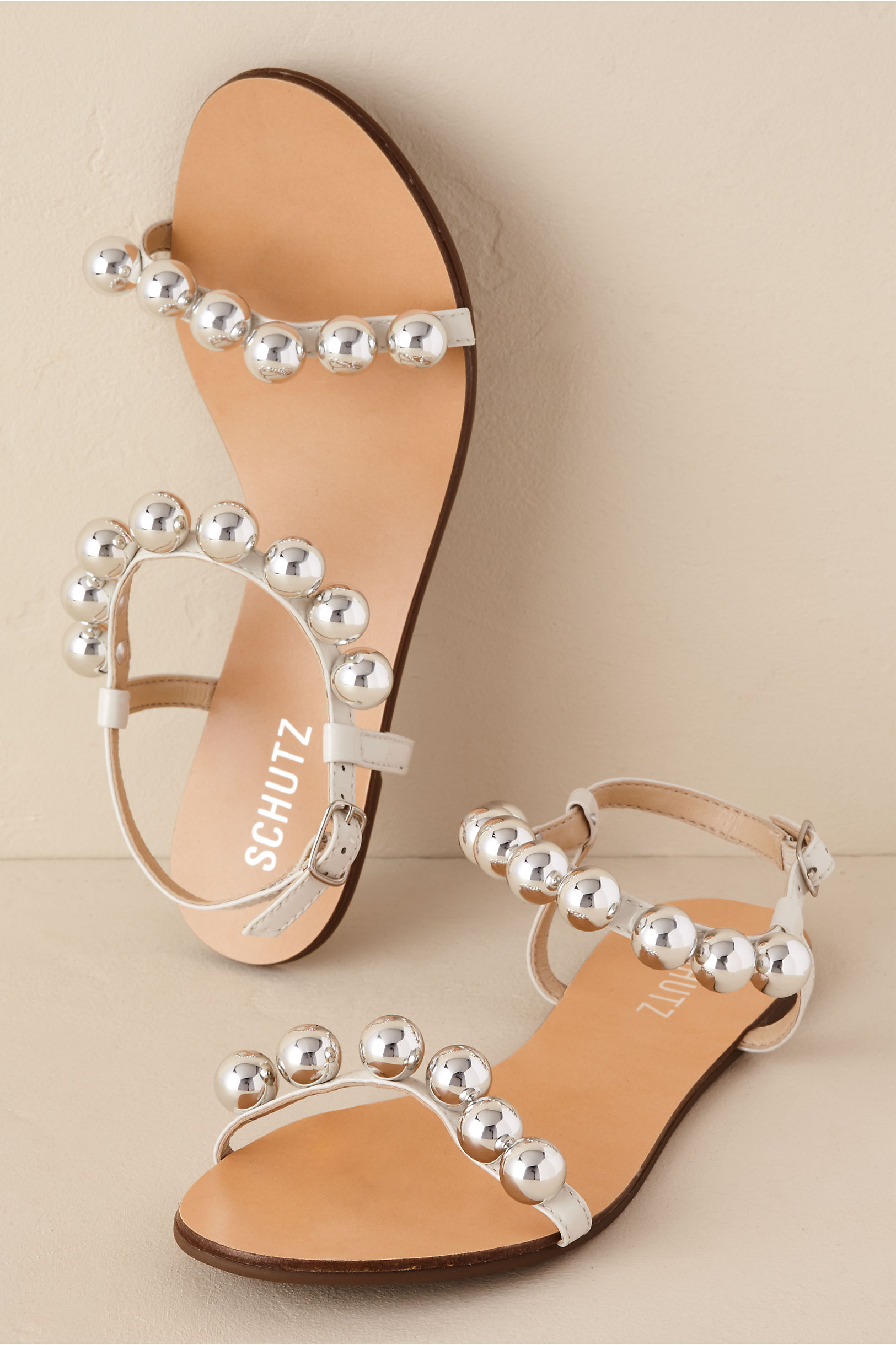 Hebe Sandal in White. - size 8 (also in 10,6,6.5,7,7.5,8.5,9.5) Schutz