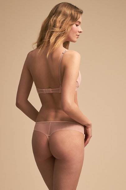 Heidi Klum Intimates Evening Sand Joslyn Thong | BHLDN