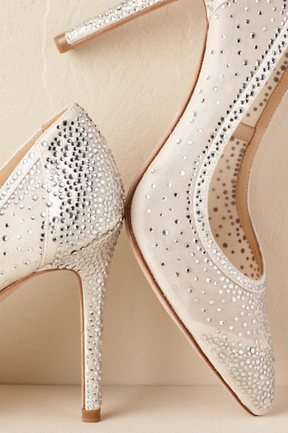 Badgley Mischka Ivory Weslee Heel | BHLDN