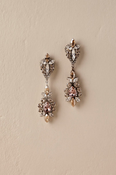 Ti Adoro Silver La Rosa Earrings | BHLDN