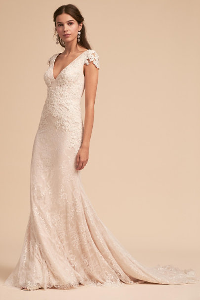 Whispers & Echoes Nude/Ivory Tierney Gown | BHLDN