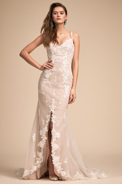 Whispers & Echoes Nude Must Be Fate Gown | BHLDN