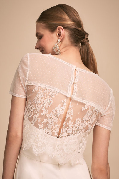 Loulette Ivory Bentley Topper | BHLDN