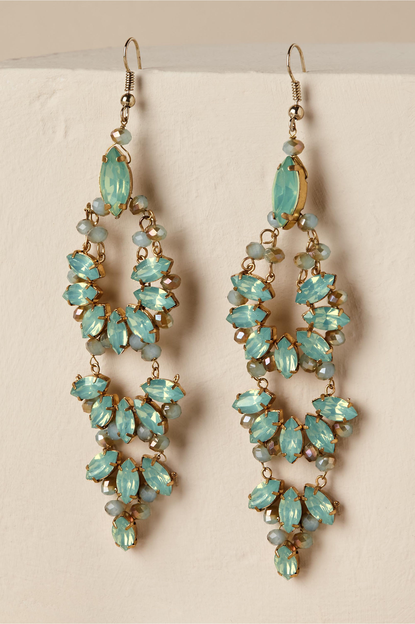 Zamora chandelier earrings gold in bride bhldn gold zamora chandelier earrings bhldn mozeypictures Image collections