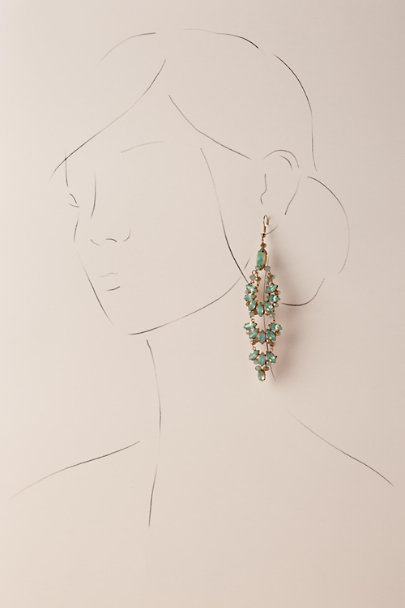 Jardin Gold Zamora Chandelier Earrings | BHLDN