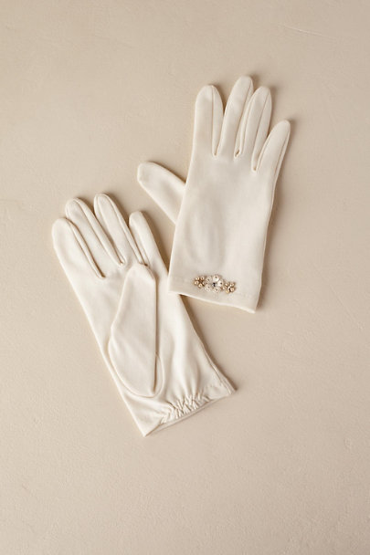 Paris by Debra Moreland Ivory Patsy Gloves | BHLDN