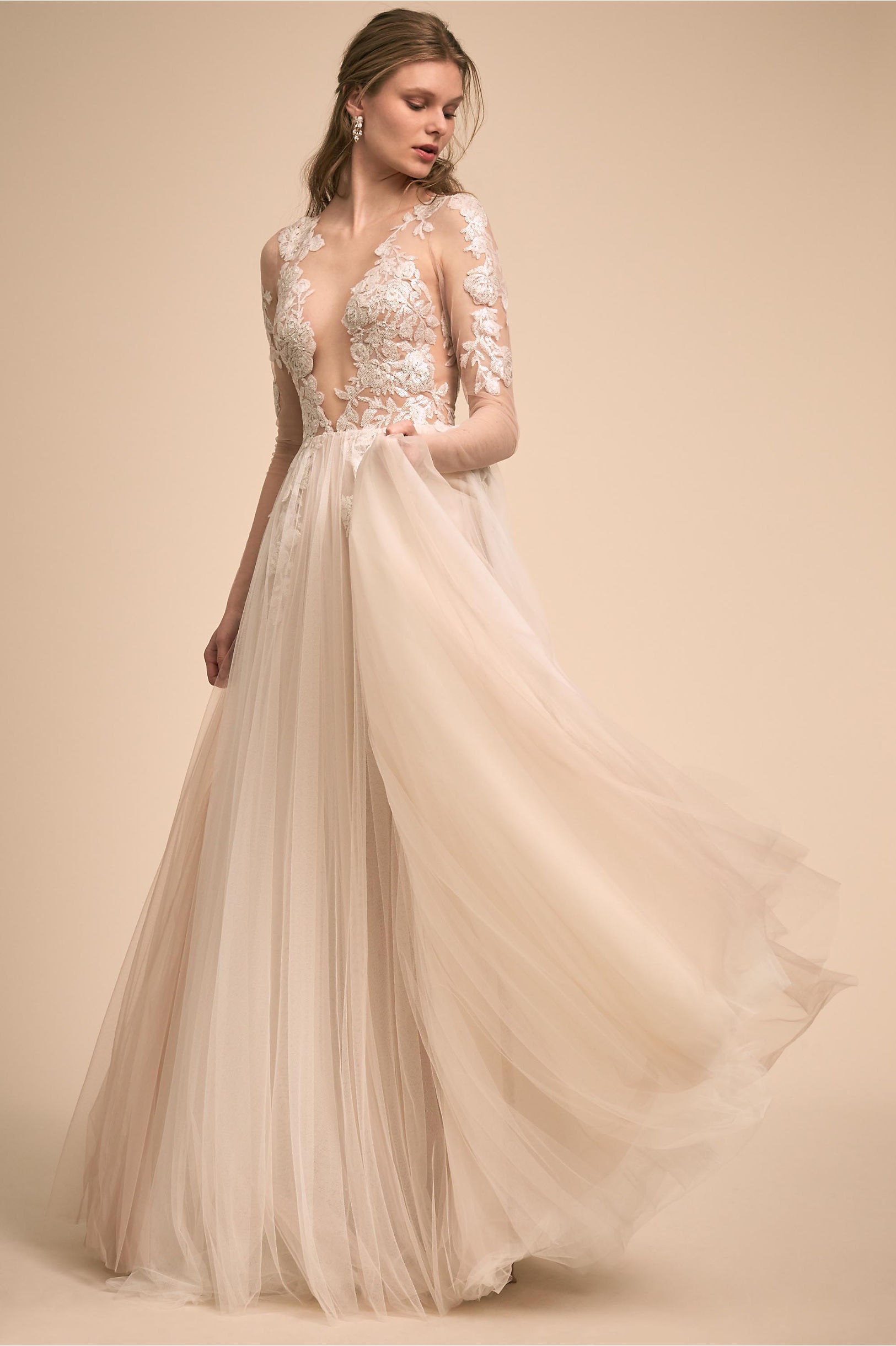 Sondrin Gown Ivory in New | BHLDN