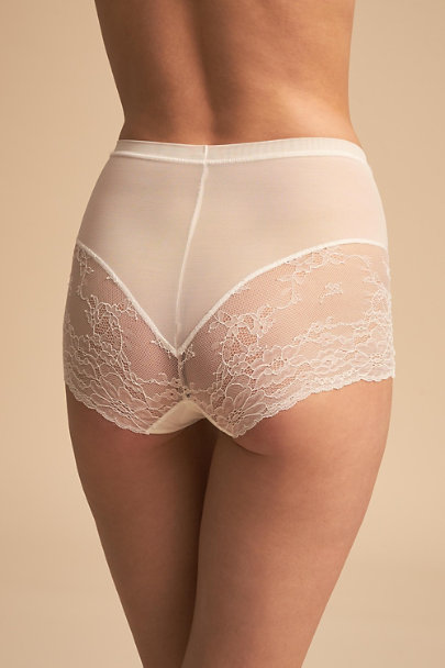 Spanx White SPANX Lace Shorts | BHLDN