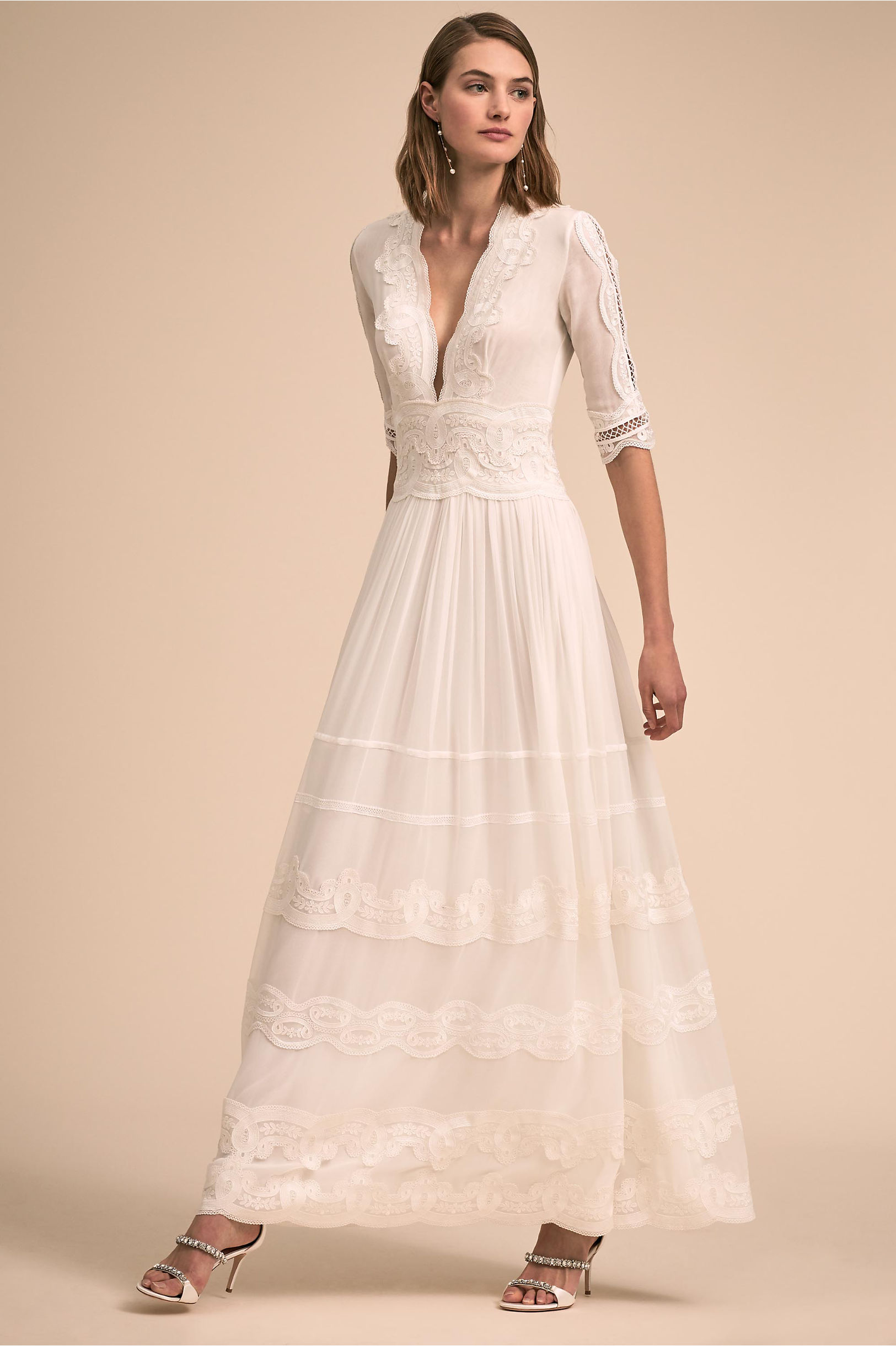 1940s Style Wedding Dresses | Classic Wedding Dresses Annalisa Gown  AT vintagedancer.com