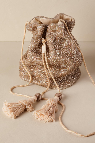 St. Xavier Gold Umbria Bag | BHLDN