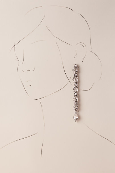 Ben-Amun Silver Donatella Drop Earrings | BHLDN