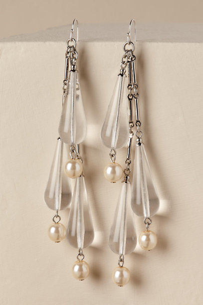 Ben-Amun Silver Jesmyn Chandelier Earrings | BHLDN