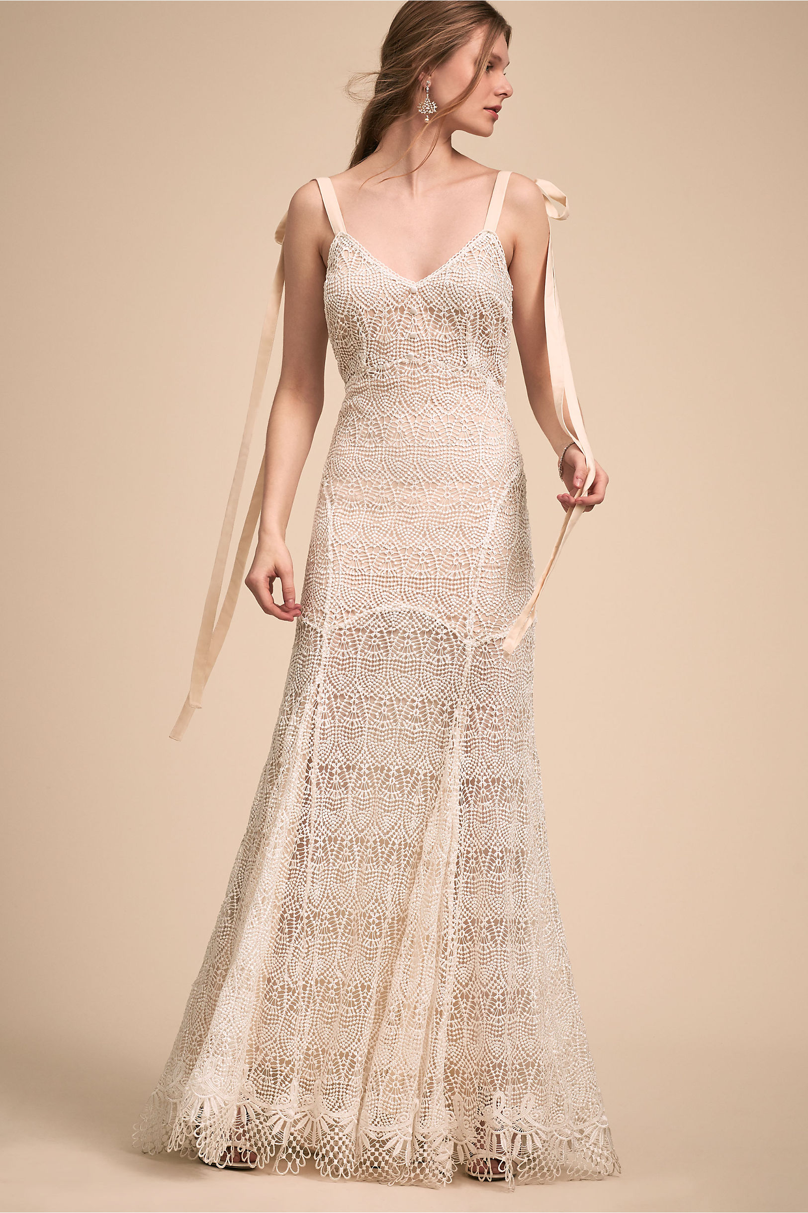 Amira Gown Ivory in New | BHLDN