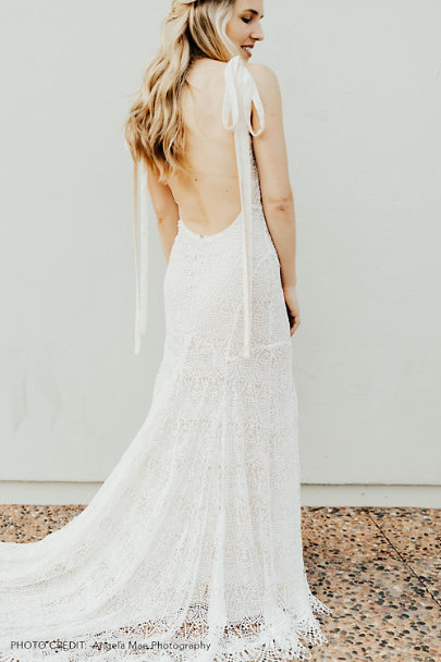 Daughters of Simone Ivory Amira Gown | BHLDN