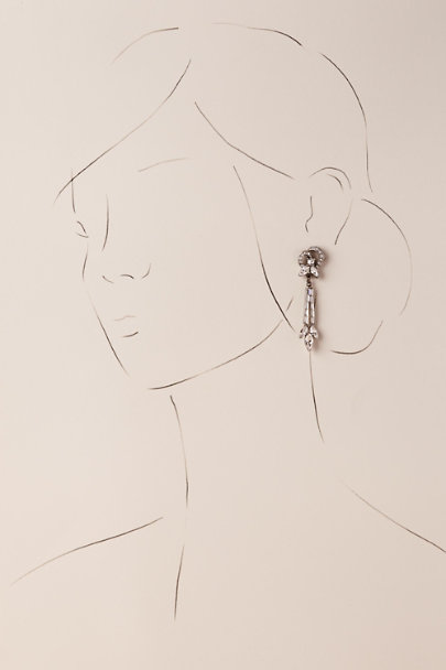 Ben-Amun Silver Katrice Drop Earrings | BHLDN