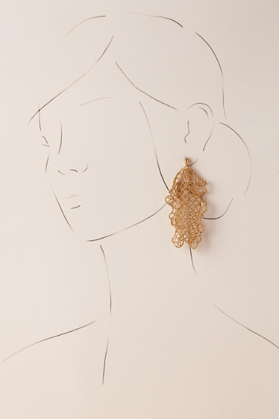 Gold Briley Chandelier Earrings | BHLDN