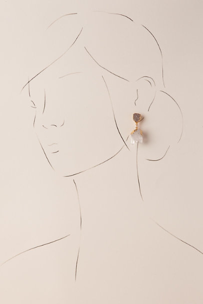Gold Arwen Drop Earrings | BHLDN
