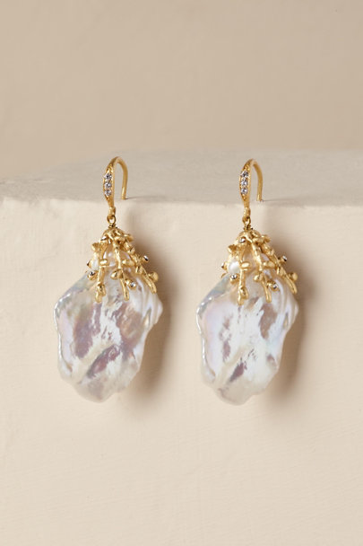 Gold Merrill Drop Earrings | BHLDN
