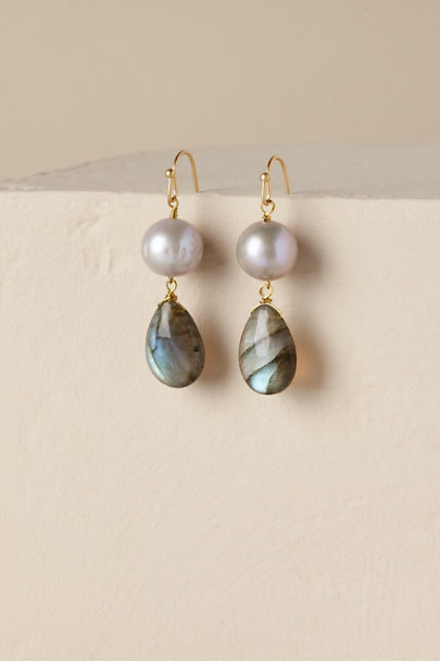 Gold Ula Drop Earrings | BHLDN