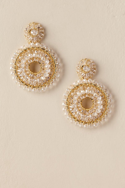 Gold Kiana Chandelier Earrings | BHLDN