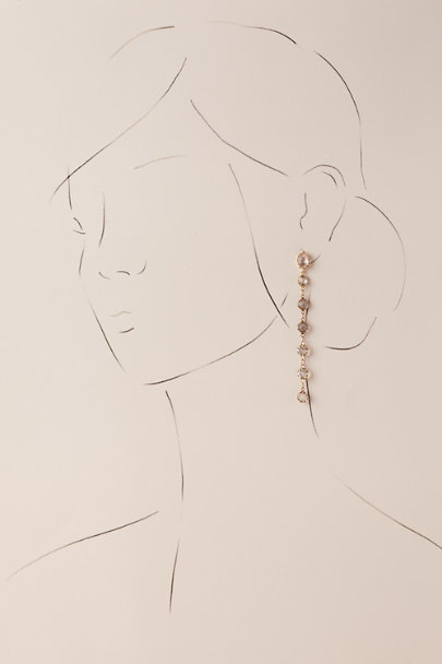 Serefina Gold Keenan Drop Earrings | BHLDN