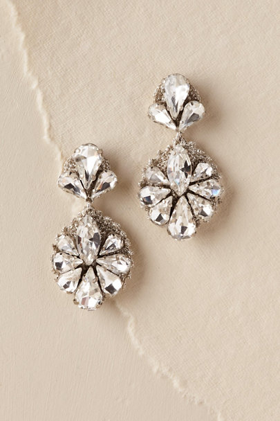 St. Erasmus Silver Eudora Drop Earrings | BHLDN