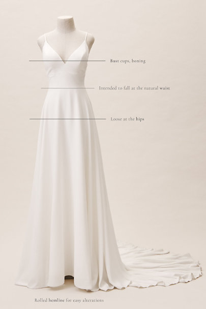 Eddy K Ivory Beloved Gown | BHLDN