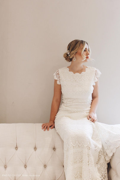 Daughters of Simone Ivory Piper Gown | BHLDN