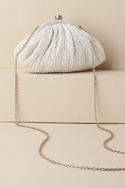 Santi Ivory Margie Beaded Pouch | BHLDN