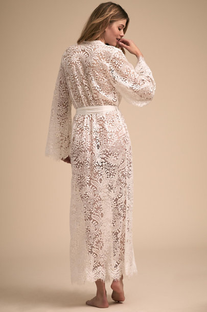 Homebodii Ivory Anemone Maxi Robe | BHLDN