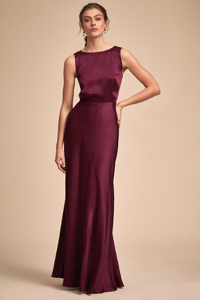 Ghost London Black Cherry Alexia Dress | BHLDN