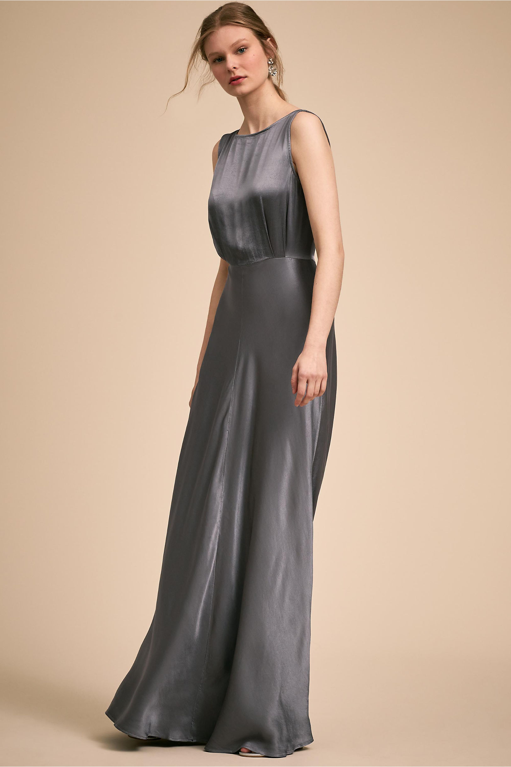 Alexia Dress Oyster in Bridal Party | BHLDN